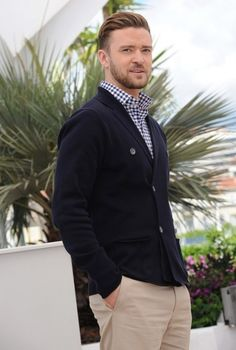 You can wear a checkered shirt dressed up casual like Justin Timberlake in Cannes #wefashion #mensfashion