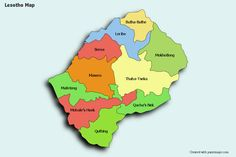 Create Custom Lesotho Map Chart with Online, Free Map Maker. Color Lesotho Map with your own statistical data. Data Visualization on Lesotho Map. Statistical Data, Map Maker, Free Maps, County Map, Photo Maps, Data Visualization, Black White, Chart, Maps