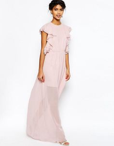 ASOS | ASOS Ruffle Front Maxi Dress at ASOS