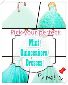 Mint Quinceanera dress- These professional tips from social gatherings party planners will allow you to identify the perfect Mint Quinceanera dress quickly! Coming Of Age, Coming Out, Mint Quinceanera Dresses, Different Patterns, Adolescence, American Girl, Party Planners, Wedding Day, Fancy