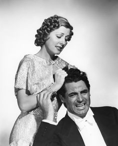 """Irene Dunne and Cary Grant had some of the best on-screen chemistry ever seen! Check them out in """"Penny Serenade""""!"""