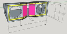 Skema Box Line Array 10 inch + tweeter | Varanews.com Subwoofer Box Design, Speaker Box Design, Sub Box Design, Speaker Plans, Free To Use Images, Woodworking Joints, Built In Speakers, Car Audio, Line
