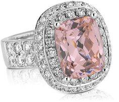 Mark Lash Fine Diamond Jewelry   PINK SAPPHIRE AND DIAMOND RING