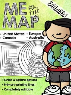 Seven continents for kids activities for learning pinterest me on the map circle book editable gumiabroncs Images