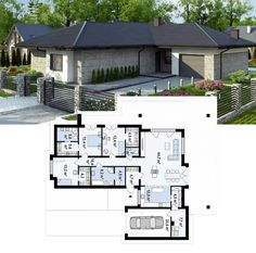 A Short House Guide For modern home design plans Small House Floor Plans, Cottage Floor Plans, Family House Plans, Dream House Plans, Modern Small House Design, Contemporary House Plans, Modern Bungalow House, Bungalow House Plans, House Construction Plan