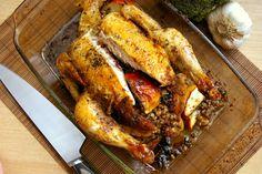KURCZAK NADZIEWANY KASZĄ I JABŁKIEM Cheesesteak, Chicken Wings, Turkey, Ethnic Recipes, Food, Diet, Turkey Country, Eten, Meals