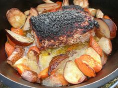 Everyday Dutch Oven: Glazed Pork Roast with Carrots, Parsnips and Pears