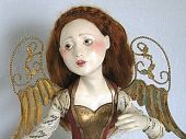 Angel with Gold Wings an Art Doll by Friedericy Dolls