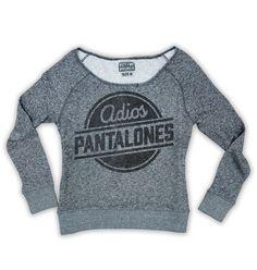 Adios Pantalones Womens Tee Grey – Buy Me Brunch