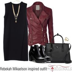 Rebekah Mikaelson inspired outfit/TO by tvdsarahmichele on Polyvore featuring moda, Alexander Wang, Zara, Vince Camuto, Miss Selfridge and Prada