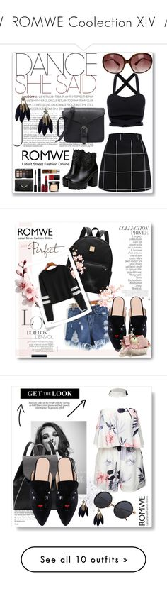 """//  ROMWE Coolection XIV  //"" by nura-akane ❤ liked on Polyvore featuring Oliver Peoples, By Terry, Burberry, Maybelline, Stila, WithChic and Kate Spade"
