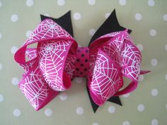 Spider Web Hair Bow by thesprinkledcupcake on Etsy, $3.50