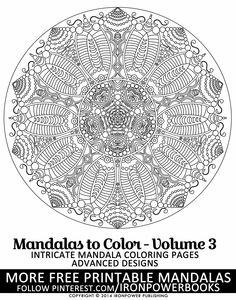 flower mandala coloring pages for adults art therapy it will be awesome to share - Intricate Mandalas Coloring Pages