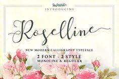 Roselline Typeface by ianmikraz on @creativemarket