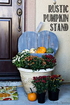 DIY Rustic Pumpkin for your Porch Learn how to make your own! #DIHWorkshop #sponsored