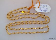 Traditional design gold chain necklace from Rajasthan India. Great handmade design, good for jewellery collection. Length - 64 we can adjust the length. Gold Earrings Designs, Gold Jewellery Design, Necklace Designs, Belly Dance Jewelry, Gold Jewelry Simple, Tiny Stud Earrings, Handmade Necklaces, Gold Necklaces, Gold Bangles