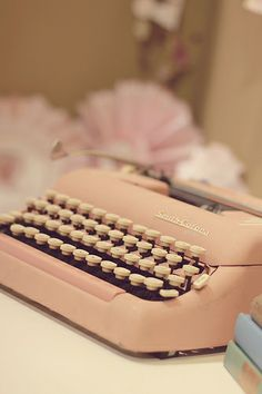powder pink typewriter