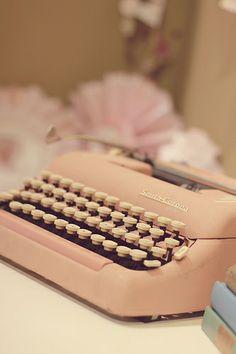 Powder Pink Typewriter