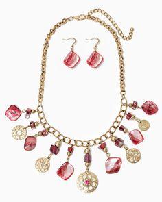 charming charlie | Boho Gardens Statement Necklace Set | UPC: 410006639478 #charmingcharlie