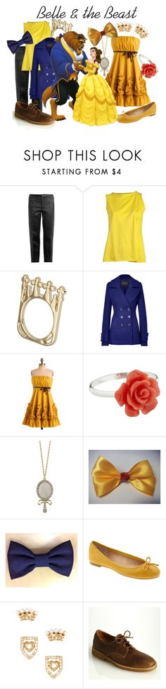 """""""Belle & the Beast"""" by princesschandler ❤ liked on Polyvore featuring Marc Jacobs, Maison Margiela, Rachel Zoe, Ryu, Van Peterson 925, Miso, Disney, Banana Republic, Juicy Couture and Roots"""