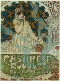 J. C. Leyendecker (1874-1951); Cashmere Bouquet, n. d.; advertising illustration for Colgate & Co.