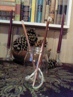 Copper tube oil lamp