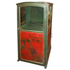 Red Chinoiserie Sedan Chair – France, 18th Century - Kevin Stone Antiques, New Orleans, LA