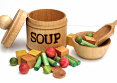 Wooden Soup Set