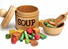 Wooden Soup Set