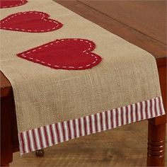 """By Park Designs: Love is in the air with our hand-crafted collection of Heart and Valentine inspired textiles and gifts. Create your own style with these beautiful accessories. Dimensions: 14"""" x 48"""" M"""