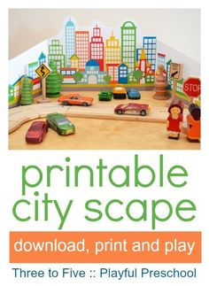 printable city for pretend play :: small world town :: where I live theme