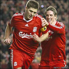March Gerrard celebrates after making it on aggregate against Real Madrid in the Champions League Bbc Sport Football, Liverpool Football Club, Liverpool Fc, Stevie G, Steven Gerrard, Champions League, Real Madrid, Chelsea, Celebrities