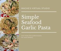 Amazingly easy and yummy garlic pasta! See details on the site! 🧡 Virtual Studio, Garlic Pasta, Floral Tie, Seafood, Make It Yourself, Simple, Amazing, Easy, Garlic Noodles
