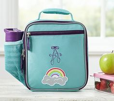 Fairfax Solid Turquoise Lunch Bags #pbkids