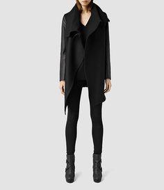 Womens Aice Monument Coat (Black) - product_image_alt_text_1