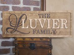 Personalized Family Name Signs custom wedding gift CARVED Wooden Sign Last name Wedding Established Anniversary custom personalized sign on Etsy, $64.99