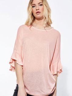 32909d7706a0 Μπλούζα με βολάν στα μανίκια σε πολλά χρώματα! Τιμή €12
