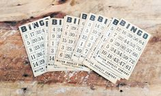 Vintage Bingo Cards - Milton Bradley by theindustrycottage on Etsy