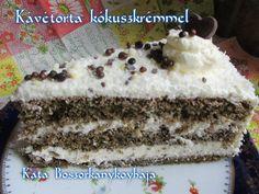 Kávétorta kókuszkrémmel (Gluténmentesen is) recept foto Paleo, Tiramisu, Food And Drink, Baking, Ethnic Recipes, Desserts, Facebook, Tailgate Desserts, Deserts