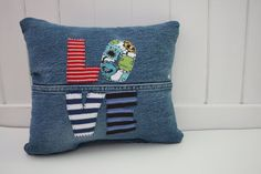 love pillow OOAK. $35.00, via Etsy.