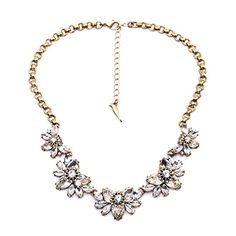 Fit&Wit Rhinestone Crystal statement Exaggerated Flower Fashion Necklace * READ MORE @ http://www.ilikeboutique.com/boutique/fitwit-rhinestone-crystal-statement-exaggerated-flower-fashion-necklace/?a=5301