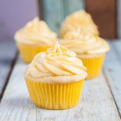 Easy Gluten Free Lemon Cupcakes, no mess, no fuss, all ingredients mixed in one bowl! I would use real butter. Cookies Sans Gluten, Dessert Sans Gluten, Gluten Free Sweets, Gluten Free Cooking, Dairy Free Recipes, Gluten Free Pastry, Sem Gluten Sem Lactose, Sans Lactose, Dairy Free Cupcakes