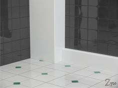 Zylo L Profile 90 degree radius corner pipe casing enclosing shower pipework. Water resistant. Available in two finishes and a wide range of sizes direct from www.pipecasings.co.uk