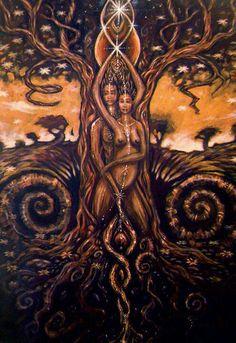 Tree of Life Art :: Tantra African American Art, African Art, American Women, Native American, Bad Trip, Les Chakras, Black Love Art, Psy Art, Black Artwork