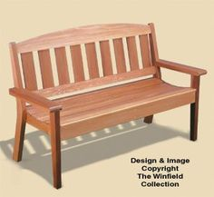 Woodworking Bench Garden Bench Woodworking Plans This attractive cedar Garden Bench will be a welcome addition to any yard, garden or porch area. It's comfortable, sturdy design will last for years. Garden Bench Plans, Outdoor Garden Bench, Patio Bench, Diy Bench, Garden Planters, Bench Storage, Garden Benches, Rooftop Garden, Storage Ideas