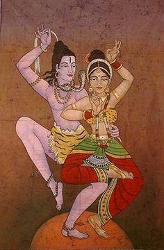 the sacred tantric dance of Shiva and Shakti Shiva Shakti, Indian Art Gallery, Advaita Vedanta, Spiritus, Hindu Deities, Hindu Art, Indian Gods, Indian Paintings, Sacred Art