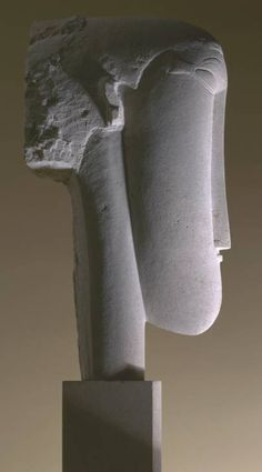 Amedeo Modigliani - Tête (Head) - 1911/1912 - Limestone Sculpture