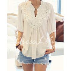 click here crochet blouse // http://www.dresslily.com/lace-splicing-crochet-flower-blouse-product646543.html#lkid=15638