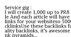 5,000 backlinks for your URL and keywords