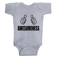 FunnyAwesomeness3 COLOR options baby Onesie by wearARTthouNOW, $12.99
